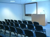 Conference room with AV screen